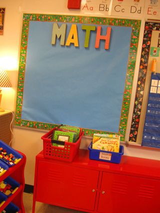 Kindergarten-math-wall