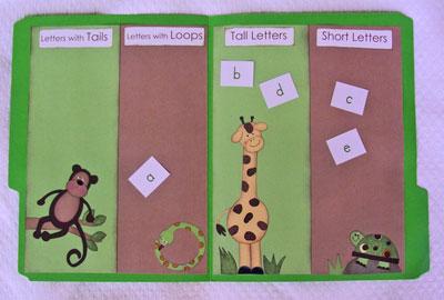 Kindergarten kindergarten file folder games file folder gameletter sor spiritdancerdesigns Choice Image