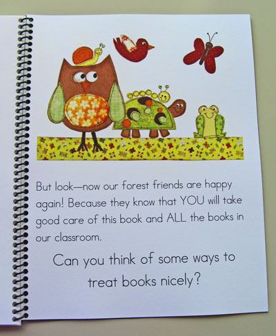 Teaching Rules And Routines Taking Care Of Books Kindergarten