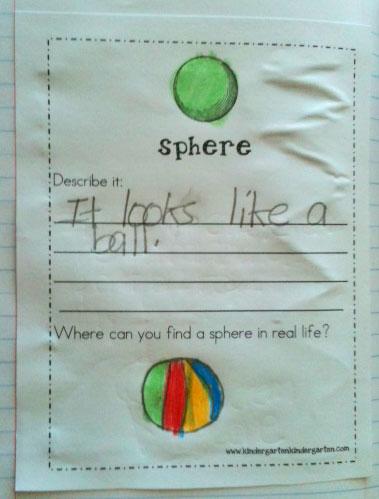 Shapes...Shapes....Shapes.... 3D! - Kindergarten Kindergarten