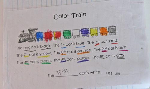 Kindergarten Kindergarten: Ordinal Numbers