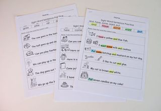 More Sight Word Practice Packets Kindergarten Kindergarten