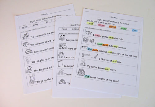 math worksheet : more sight word practice packets!  kindergarten kindergarten : Kindergarten Sight Word Sentences Worksheets