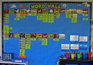 Kindergarten-word-wall