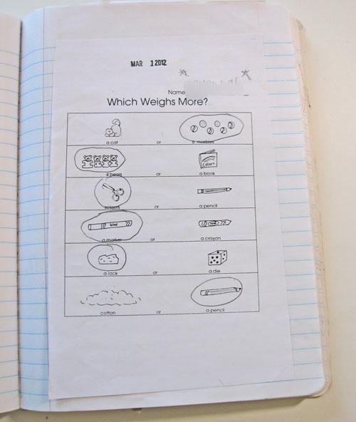 Math: Measurement--Weight - Kindergarten Kindergarten