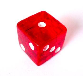 1 on a dice