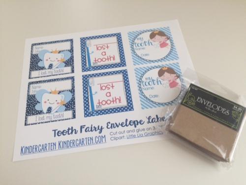 Tooth Fairy Envelopes