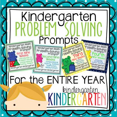 Problem Solving For Kindergarten Worksheets