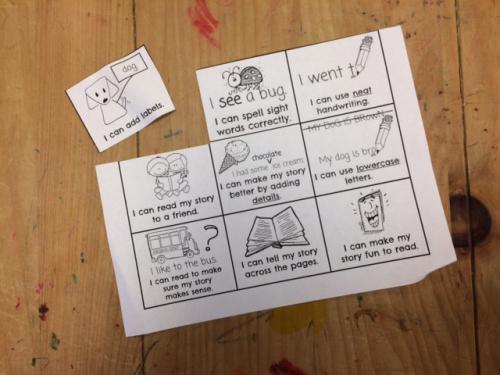 Kindergarten Writing Goals 4
